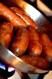Frittura italiana della salsiccia Fotografie Stock