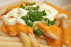 Fritture del formaggio con salsa, Mayonaise e la sorgente Onio Immagine Stock