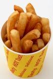 Fritture dorate in una benna del chip Fotografia Stock Libera da Diritti