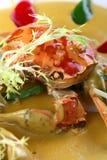 friture asiatique de nourriture de crabe Images stock
