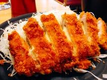 Friture de fromage de poulet Images stock
