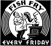 Friture de poissons Photo libre de droits