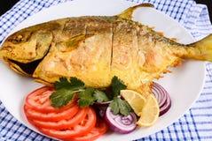 Friture de poissons images stock