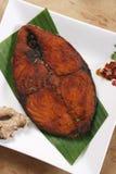Friture de poissons de Masala du Kerala, Inde Photos stock
