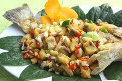 Friture de poissons de Miang Image stock