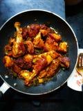 Friture de poulet photographie stock libre de droits