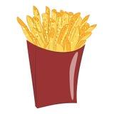 Fritures de patate douce dans la boîte de papier Photographie stock libre de droits