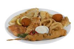 Fritures de poissons mélangées Photo stock