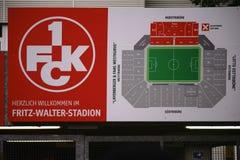 Fritz-Вальтер-стадион Кайзерслаутерн плана стадиона стоковые фото