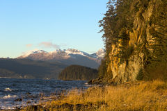 Fritz Cove auf Douglas Island im November Stockfotografie