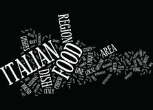 Friuli Venezia Giulia Italian Food Word Cloud begrepp stock illustrationer
