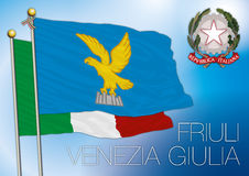 Friuli Venezia Giulia regional flag, italy Royalty Free Stock Photos
