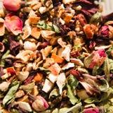 Friut tea,dried tea leaves. Photo of friut tea,dried tea leaves stock image