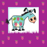 Friuty donkey Stock Photography