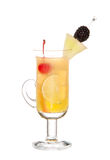 Friuty Mocktail drink with peach shnapps Stock Photo