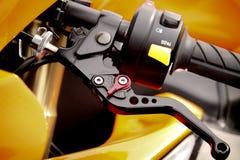 Frizione del manubrio della bici immagini stock