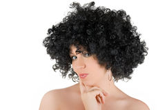 Frizzy woman Stock Image