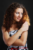 Frizzy woman with cross arms Stock Photos
