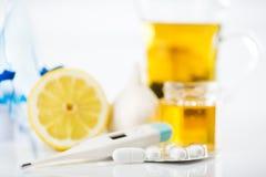 Förkylning och influensa Royaltyfria Bilder