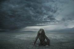 förlorad kvinna Arkivfoton
