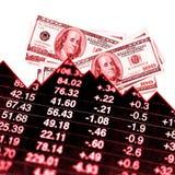 förlorande pengar Arkivbild