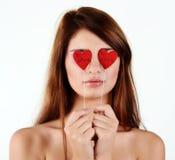 Förälskad flicka Arkivfoto