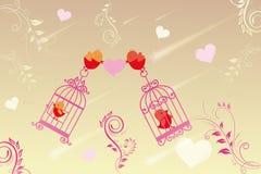 Förälskade lilla fåglar Arkivfoton