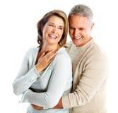 Förälskade lyckliga höga par. Arkivbilder