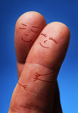 Förälskat fingerfolk Fotografering för Bildbyråer