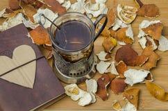 Förälskelse av te och komfort Royaltyfri Bild