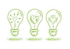 Förälskelse- och besparingenergibegrepp Royaltyfri Fotografi