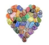 Förälskelsehjärta som läker kristaller Royaltyfri Fotografi