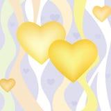 Förälskelsehjärtabakgrund. Valentindagbakgrund Fotografering för Bildbyråer