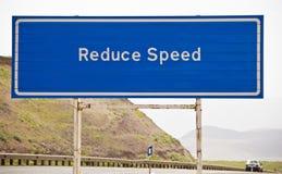 Förminska hastighet Arkivbild