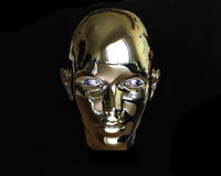 främmande metall för flicka 3d Royaltyfri Foto