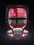 Främre sikt för halv lastbil Royaltyfria Bilder