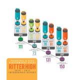 Främsta och vice Infographic Royaltyfri Fotografi