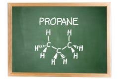 Fórmula química del propano Imágenes de archivo libres de regalías
