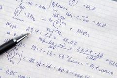 Fórmulas Imagen de archivo