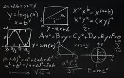 Fórmulas de la matemáticas Imagen de archivo