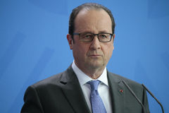 Frncois Hollande. MARCH 31, 2015 - BERLIN: French president Francois Hollande at a press conference after a meeting with the German Chancellor in the Chanclery Stock Image