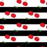 Frock background with cherries Stock Photo