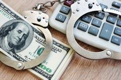 Frode di verifica Concetto economico di crimine fotografie stock libere da diritti
