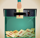 Frode elettorale di elezione di sartiame Fotografia Stock