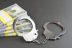 Frode internazionale di lotteria di crimine finanziario fotografie stock