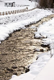 Frodolfo river in winter, Santa Caterina Valfurva, Sondrio Stock Images