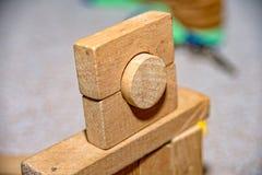 Froebel wooden building blocks for children. Some Froebel wooden building blocks for children Stock Photo