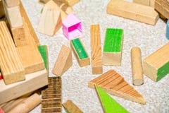 Froebel wooden building blocks for children. Some Froebel wooden building blocks for children Royalty Free Stock Images