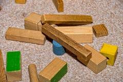 Froebel wooden building blocks for children. Some Froebel wooden building blocks for children Royalty Free Stock Photos