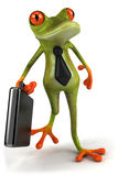 Frog. Cute little frog , 3D generated stock illustration